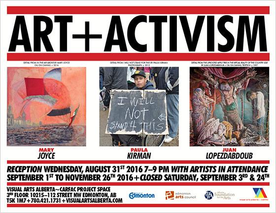 ART+ACTIVISM poster