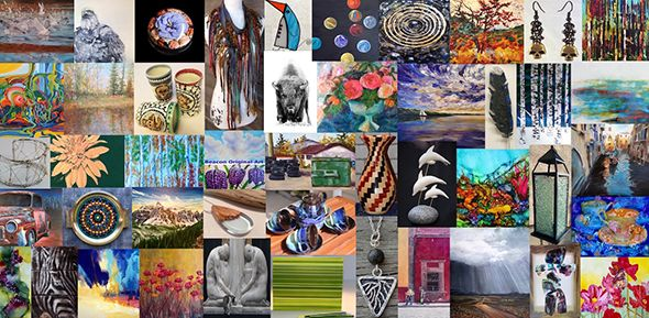 Collage of Beacon artworks