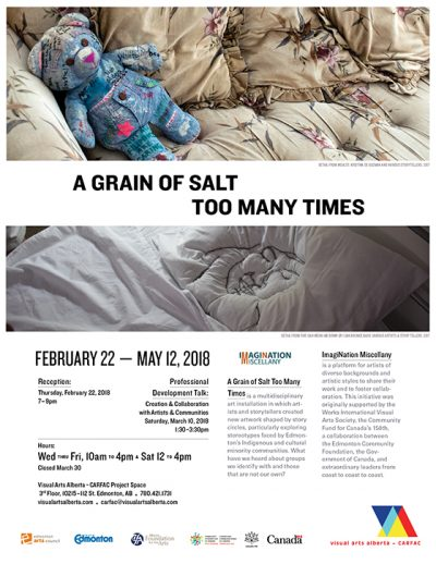 A Grain of Salt Too Many Times exhibition poster