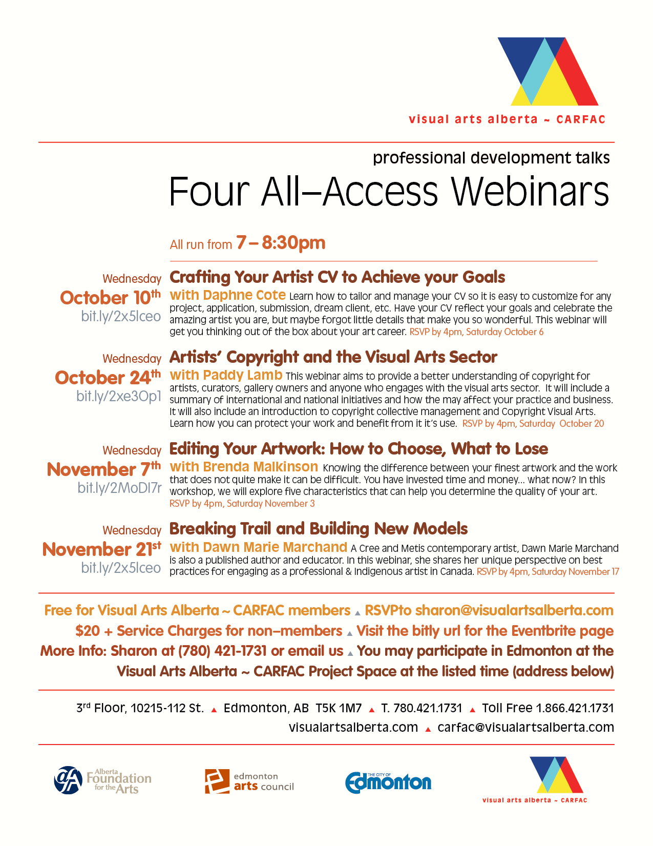 Poster for Four Webinars