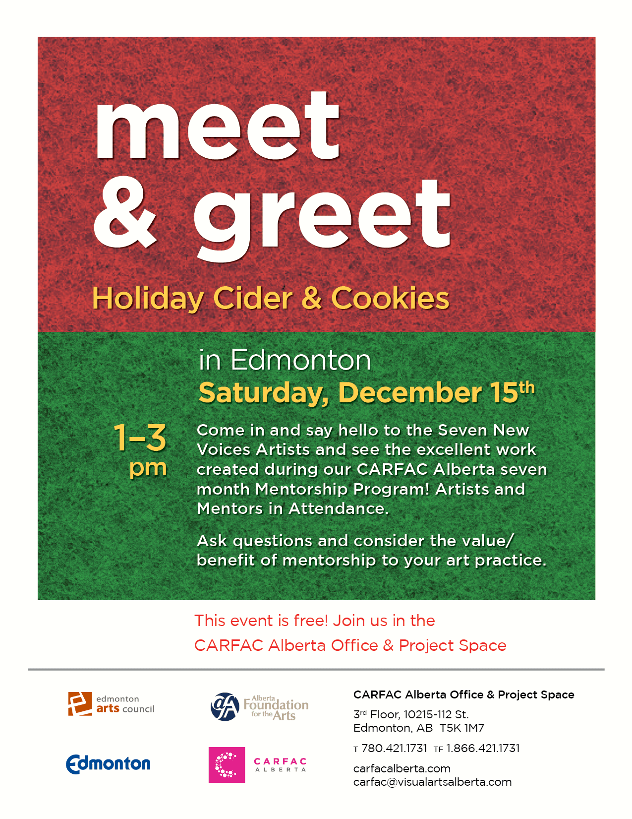 Meet and Greet Holiday Cider & Cookies poster