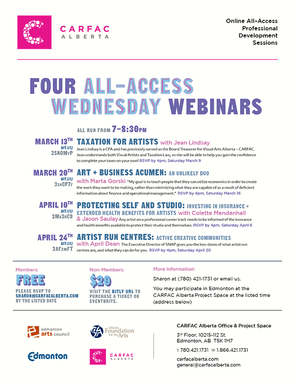 Four All-Access Wednesday Webinars