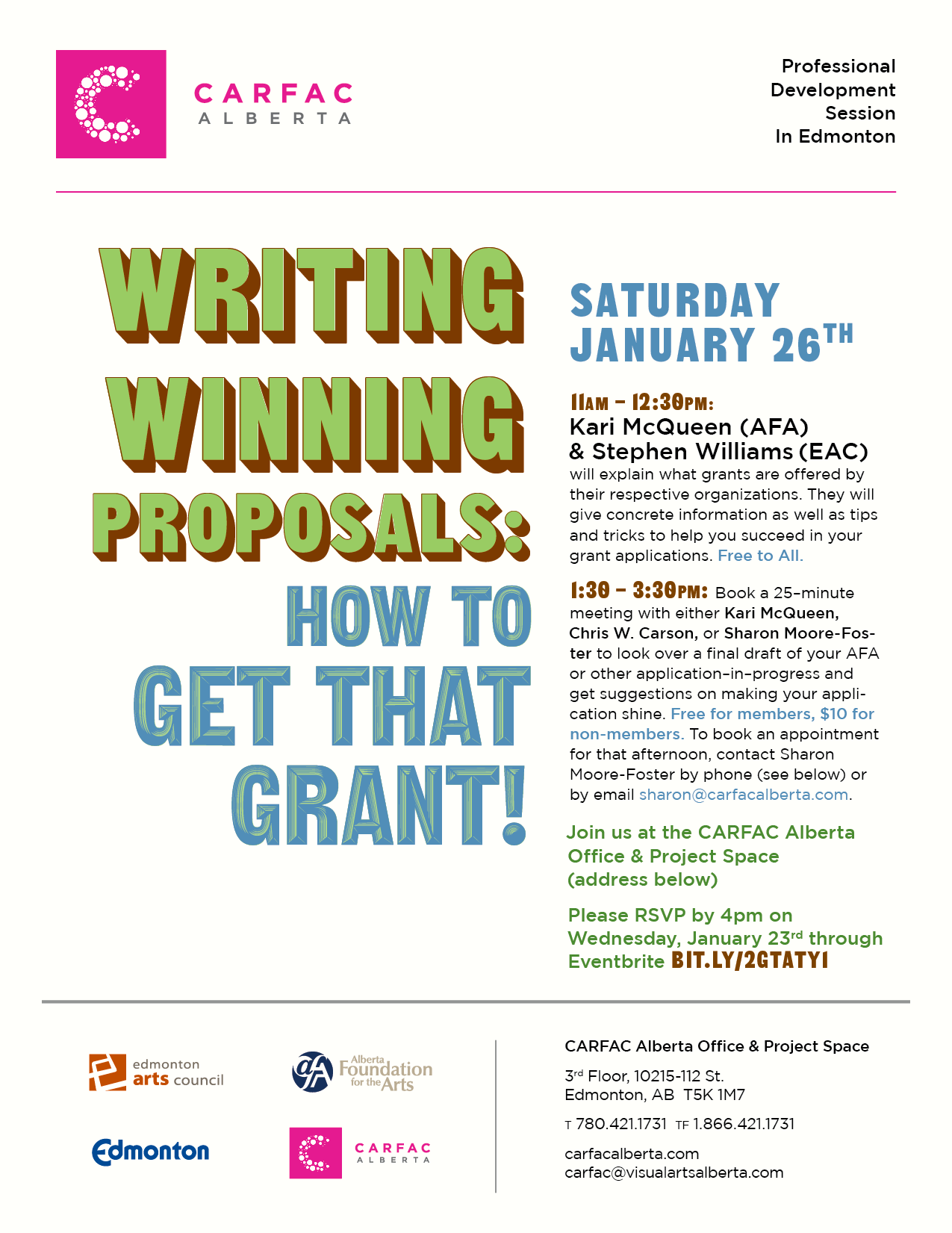 Edmonton | Writing Winning Proposals: How to Get That Grant