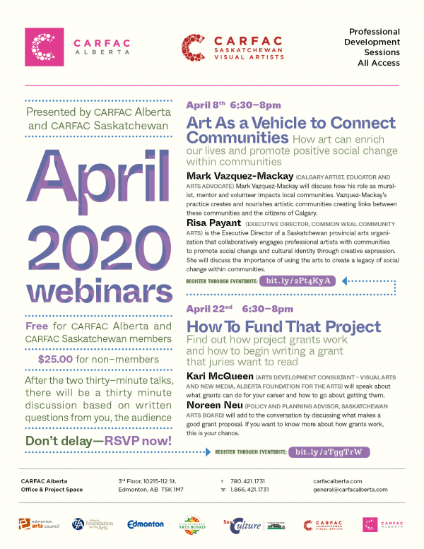 April 2020 Webinars