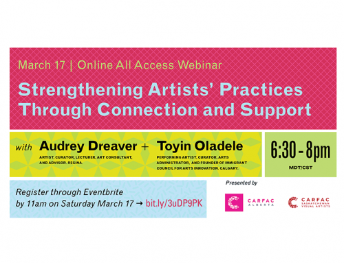 Online All Access | March Webinar: Strengthening Artists' Practices Through Connection and Support