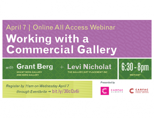Online All-Access | April Webinar: Working with a Commercial Gallery